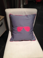 coussin, passe-poile, rayban, lunettes, star, couture